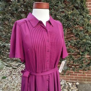 Nanette Lepore Fit Flare Valentine's Shirt Dress